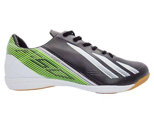 b8e64966c8 Tênis Adidas Futsal Adizero F50 Preto e Verde - Loja Moda   Estilo